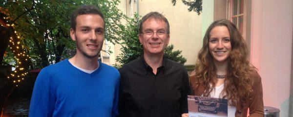 Preisverleihung in Köln: Patrick Schwarz, Holger Nacken und Miriam Binner (v.l.)